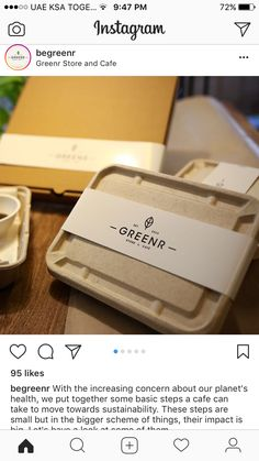 Always great to see our customers espousing the new green revolution. Food Box Packaging, Cookie Packaging, Food Packaging Design, Branding Design, Health Food Restaurants, Green Revolution, Restaurant Branding, No Plastic, New Green
