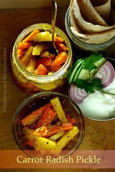 elephants and the coconut trees: Gajar Mooli ka achar / Carrot Radish Pickle / Punjabi Winter Pickle