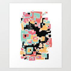 ABSTRACT 2 Art Print by Matthew Taylor Wilson - $20.00