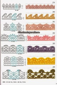 Schemes crochet patterns for plaid - Handmade-Paradise