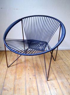 Alter 60er SPAGETTI Acapulco Garten STUHL Lounge Vintage Sessel  Designklassiker