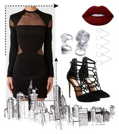 """""""..."""" by bia-jackson on Polyvore featuring Balmain, Steve Madden, Eddie Borgo and Lime Crime"""