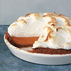 25 Perfect Pies for Fall, including this yummy-licious Sweet Potato Pie with Marshmallow Meringue via Bon Appetit