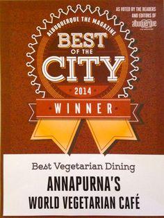 Best of the City 2014 - Best Vegetarian Dining! #Ganesha #vegan #vegetarian #glutenfree #annapurna #albuquerque #santafe #newmexico #chai #ayurveda #tea #fourthstreet #yale #unm #silver #ayurvedic #bestofthecity