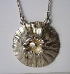 "Matti Hyvärinen, vintage modernist ""Lava"" necklace, in sterling silver, 1975. #Finland"