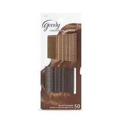 GOODY Color Collection Metallic Finish Brunette Bobby Pins (50ct) by Goody. $4.95