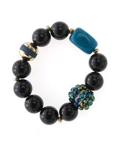 Midnight jade bracelet