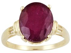 Mahaleo(R)Ruby 5.00ct Oval 10k Yellow Gold Ring