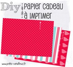 Des jolis papiers cadeaux pour la Saint-valentin ! par petits-canaillous.fr Valentines Day, Diy, Valentines Day Treats, Wrapping Papers, Projects, Valentines, Build Your Own, Velentine Day, Bricolage