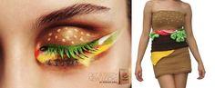 Burger eyes makeup// burger inspiration : Le Burger Américain Sous Toutes ses Formes Watercolor Tattoo, Tattoos, Inspiration, Makeup, Kitsch, Random, Happy, Food, Biblical Inspiration