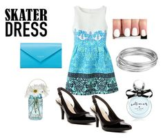 """""""Skater dress"""" by michelle-dupuis on Polyvore"""