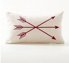 Amazon.com: Gray arrows Cotton Linen Throw Pillow Case Cushion Cover Home Sofa Decorative 18 X 18 Inch ¡ (style C): Bedding & Bath