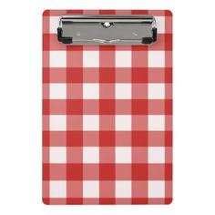 Plaid pattern mini clipboard