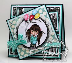 A World of Creative Possibilities: Little Darlings rubber stamps : It's a celebration!