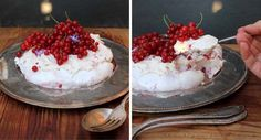 Livs Pavlova-Rezept für den Sommer: Eine gelingsichere Baiser-Torte mit einer Füllung aus Johannisbeeren und Mascarpone