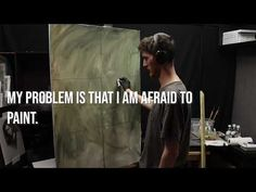 """"""" My Problem Is That I AM AFRAID TO PAINT """" - YouTube Video Photography, Learn To Draw, Art Techniques, Fun Learning, Installation Art, Art Tutorials, Youtube, Movie Posters, Painting"""