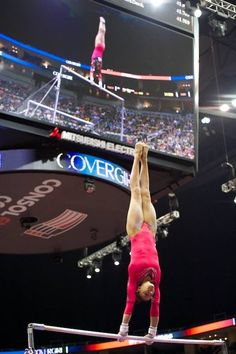 Kyla Ross performing on UB at the 2014 P&G Gymnastics Championships Day 1 / If you wanna know how perfection looks like... take a look