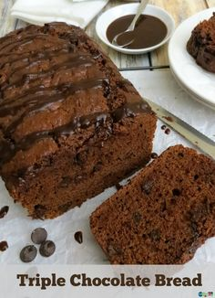 Triple Chocolate Bread made with Cocoa and Coconut Oil