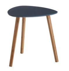 Hjørnebord TAPS lille mørkeblå/bambus | JYSK