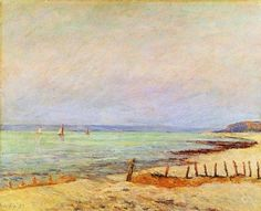 Dusk - the Mouth of the Saine. Maxime Maufra (1861-1918) French Impressionist Painter