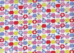 Cute Cotton Apple And Daisies Fabric