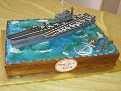 Aircraft carrier sheet cake   Flickr - Photo Sharing!