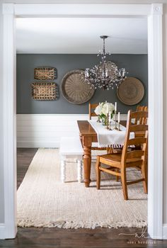 Dining Room Paint Colors, Room Wall Colors, Dining Room Wall Decor, Dining Room Design, Room Decor, White Dining Room Paint, Dinning Room Ideas, Dining Rooms, White Dining Room Furniture