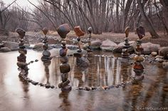 """By artist Michael Grab.  """"Gravity is the only 'Glue' that holds these structures in equilibrium. All Gravity Glue images exhibit real rocks that I've balanced and photographed myself. The process resembles an intimate dance with the elements. adapting to the moments, embracing creative intuition. focused breathing.. silence… exploring and redefining 'possible'."""""""