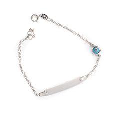 Παιδικό  βραχιόλι ταυτότητα  λευκόχρυσο Κ14  1455 Pendant Necklace, Jewels, Jewerly, Gemstones, Drop Necklace, Fine Jewelry, Gem, Jewelery, Jewelry