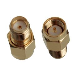 1Pc Adapter SMA Male Plug to SMA Female Jack RF Connector Straight Gold Plating