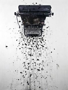 Photo by Andre Petterson (Dutch, B. -tell the story till the ink bleeds Typewriter Tattoo, Contemporary Art Gallery, Ex Machina, Vintage Typewriters, Wow Art, Jolie Photo, Art Photography, Street Art, At Least