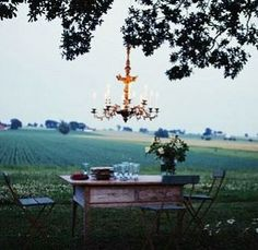 Chandeliers in the Outdoors