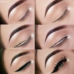Our tips on how to apply eyeliner are a game changer. Find out the hacks that actually work in practice and nail your eyeliner like a pro. Makeup hacks for teens girl should know acne eyeliner for hair makeup skincare Eyeliner Hacks, Makeup Tutorial Eyeliner, Eyeliner Styles, Best Eyeliner, How To Apply Eyeliner, Eye Makeup Tips, Eyebrow Makeup, Makeup Inspo, Applying Eyeliner