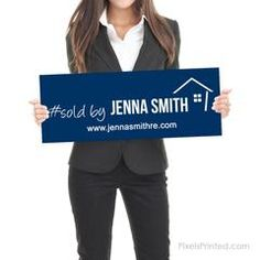 Sold by Sign - Real Estate Testimonial Prop - - different design on each side - thick White PVC Hard Plastic - FREE UPS shipping Real Estate Signs, Instagram Handle, Social Media Channels, Selling Real Estate, Home Ownership, Real Estate Marketing, Order Prints, Get Started, Custom Design