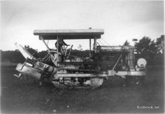 This is a Fowler Gyrotiller. It was a self propelled, vertical rotor, powered cultivator. This machine may have been from the steam ploughing contractor's in Haverhill; the machine was introduced to replace steam ploughing in the late Military Vehicles, 1930s, Monster Trucks, Engineering, Vans, American, Army Vehicles, Van, Technology