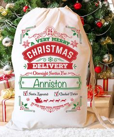 Loving this 'Christmas Delivery' Handwriting Font Personalized Santa Sack on #zulily! #zulilyfinds