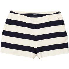 GANT Bold Striped Shorts (10.925 RUB) ❤ liked on Polyvore featuring shorts, pants, navy, striped shorts, gant, navy blue shorts, navy shorts and stripe shorts