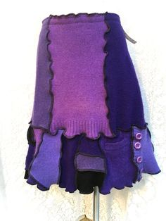 Wool Sweater Skirt Upcycled Clothing by danamurphydesigns on Etsy