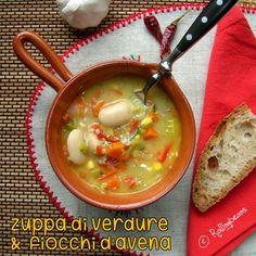 Zuppa di verdure e fiocchi d'avena (vegan)