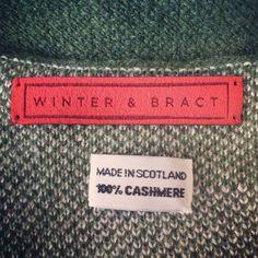 Winter & Bract - Made in Scotland / 100% Cashmere