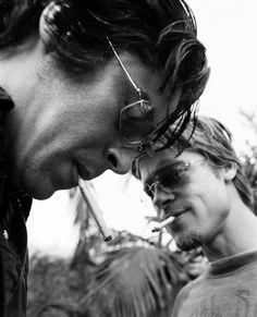 Benicio Del Toro & Brad Pitt