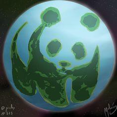 WWF Planet  #wwf #panda #pandabear #world #planet #worldenviromentday #enviroment #diamundialdelmedioambiente #mundo #planeta #tierra #earth  #illustration #draw #sketch #drawing #art #artistsoninstagram #dailysketch  #cute #adorable #chibi #kawaii  #digital #digitalpainting #digitalart