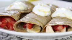 Healthy Breakfast – Banana Berry Crepes