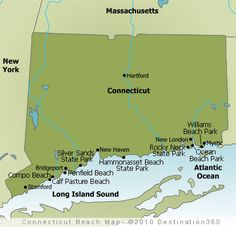 Map of Connecticut Beaches.....