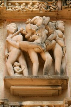 """Group of Temples of Kamasutra, also referred to as """"The Temples of Love"""" at Khajuraho, Madhya Pradesh, India. Known for its erotic sculptures & carvings. Ancient Indian Art, Ancient Art, Beautiful Fantasy Art, Historical Monuments, Aboriginal Art, Mural Art, Erotic Art, Female Art, Art Pictures"""