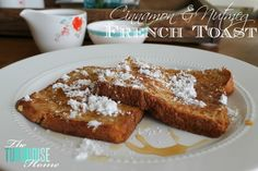Cinnamon & Nutmeg French Toast I made some this morning for breakfast and it was delicious! The nutmeg is a nice little additive.