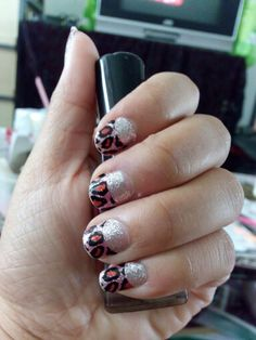 French tiger nail sticker.