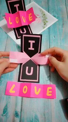 Diy Crafts Hacks, Diy Crafts For Gifts, Creative Crafts, Craft Tutorials, Felt Crafts, Cool Paper Crafts, Paper Crafts Origami, Origami Cards, Diy Birthday