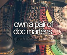 own a pair of doc martens