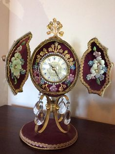 Ostrich egg clock with rhyme stones kienzle clock £199 on ebay